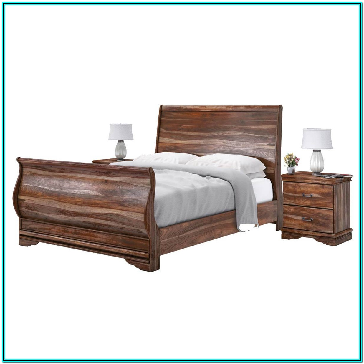 Solid Wood Bed Frame King Size
