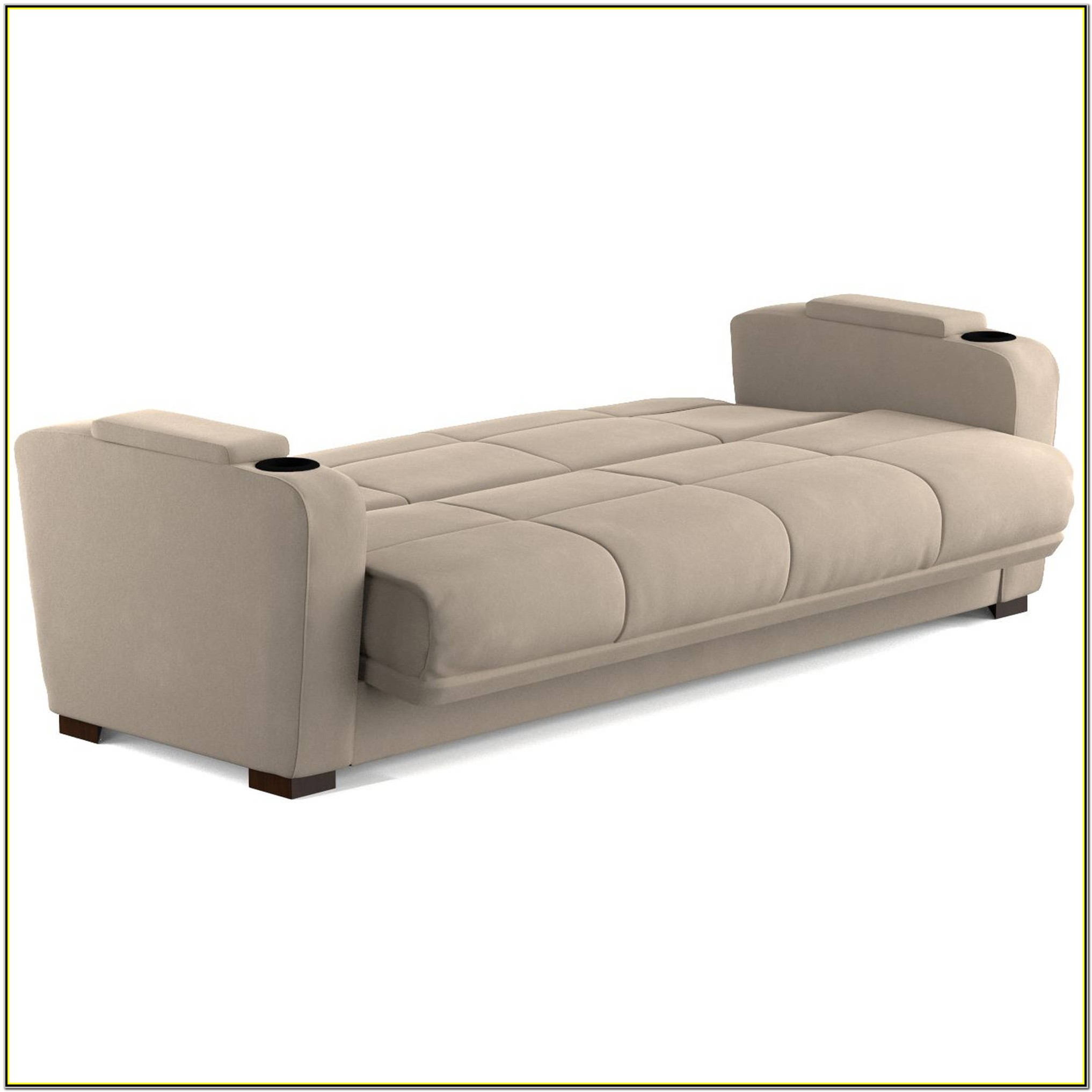 Thomas Full Size Futon Sofa Bed With Storage Space