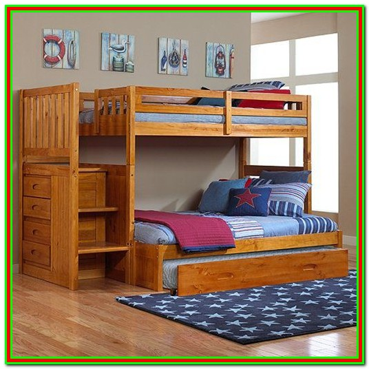 Trundle Bed With Drawers And Stairs