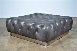 Tufted Leather Ottoman Coffee Table