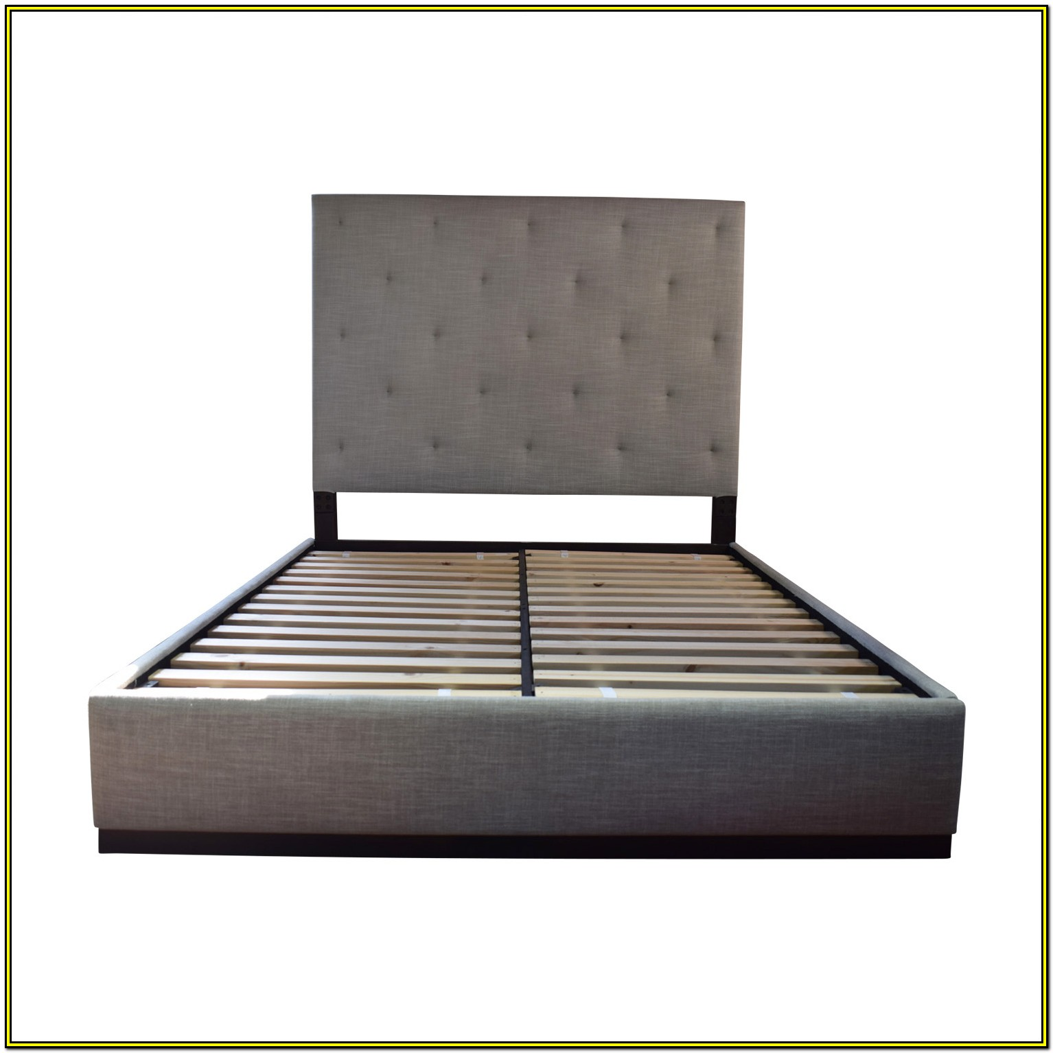 Tufted Platform Bed Frame Queen