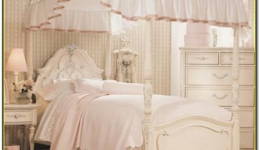 Twin Canopy Bed For Girl