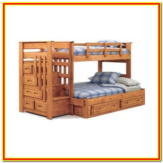 Twin Over Full Bunk Bed With Steps