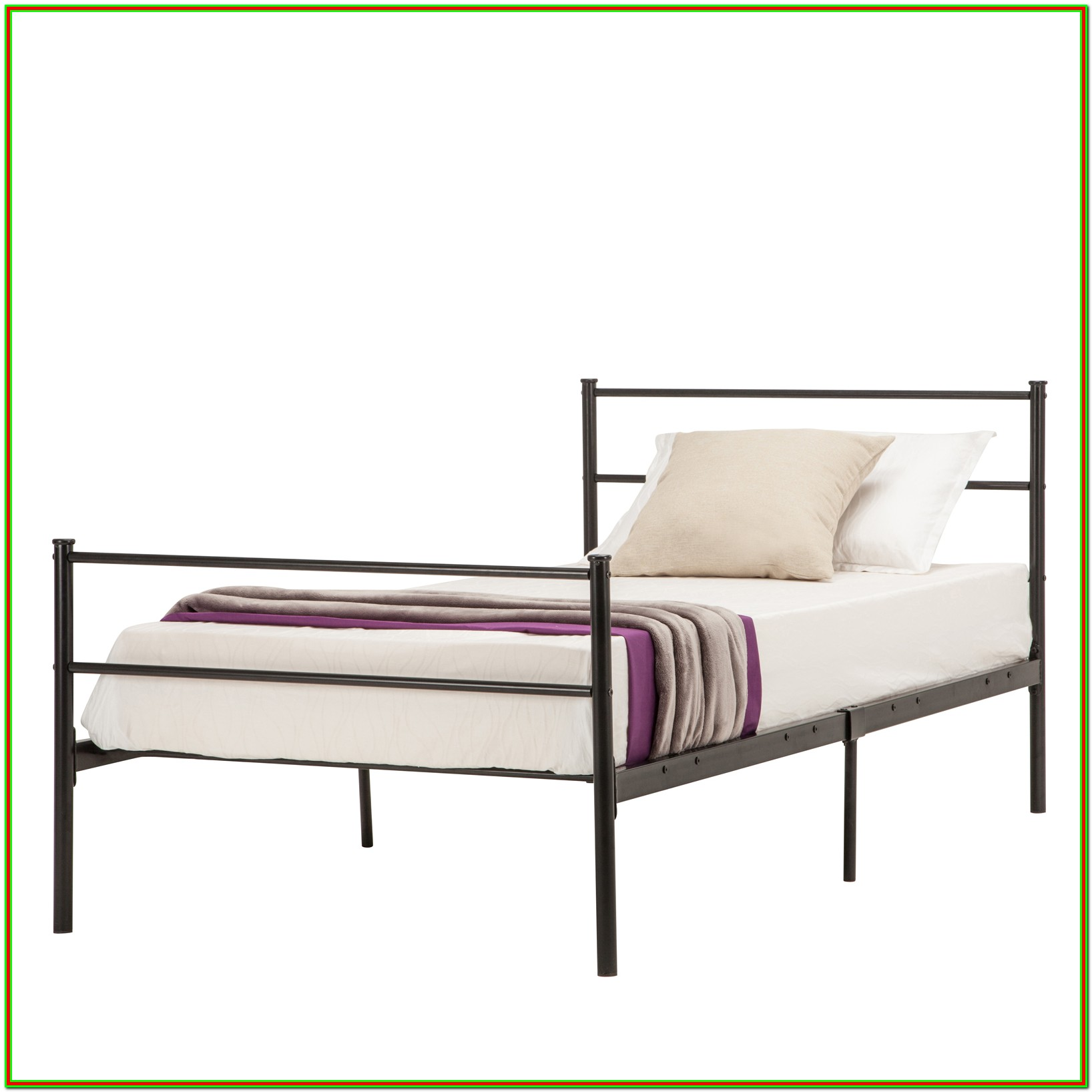 Twin Platform Bed Frame With Headboard