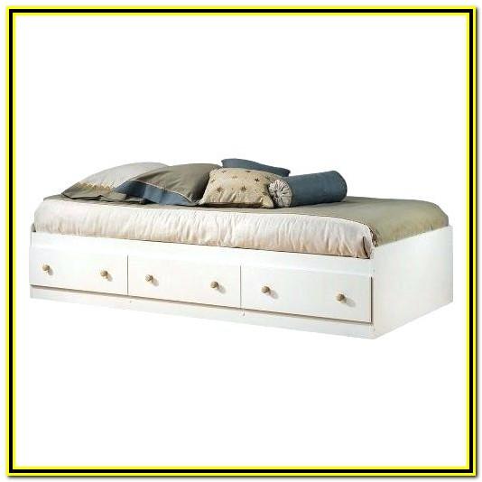 Twin Platform Bed With Storage Baskets
