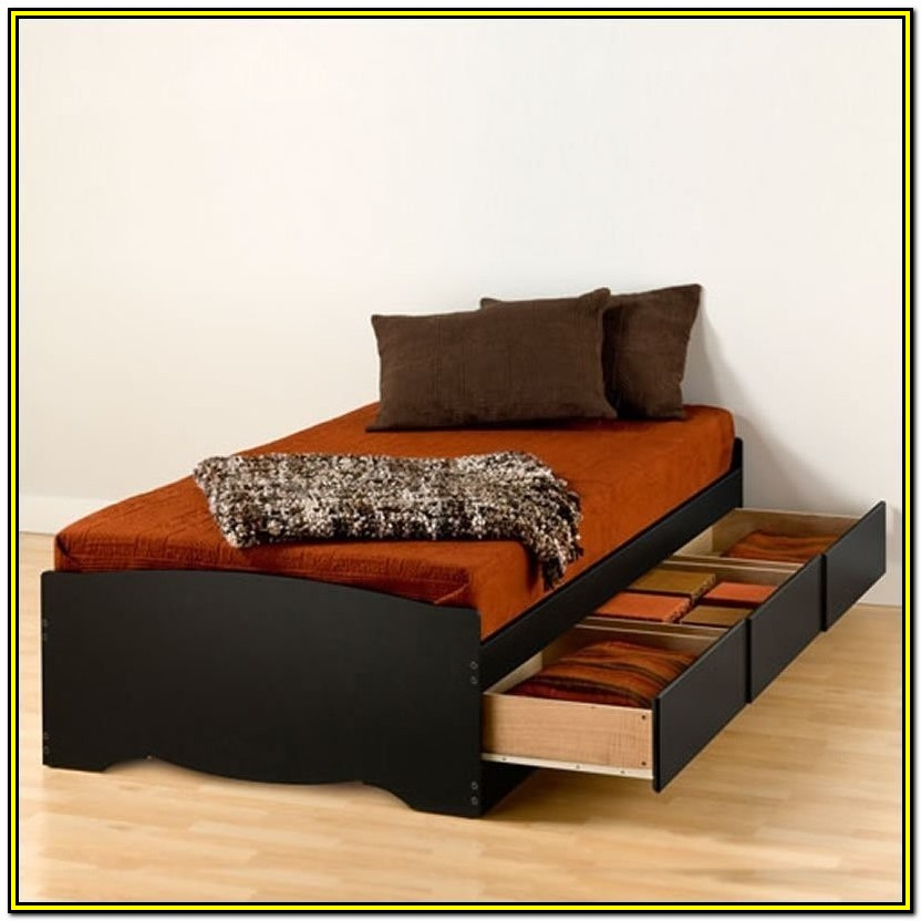 Twin Xl Platform Bed Frame With Storage