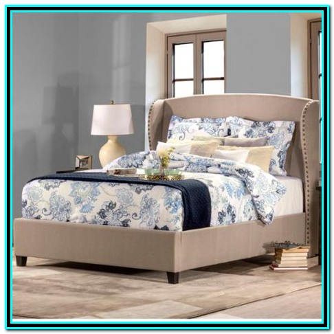 Upholstered Queen Bed Frame Taupe
