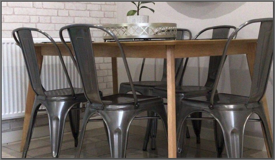 Vintage Metal Dining Room Chairs