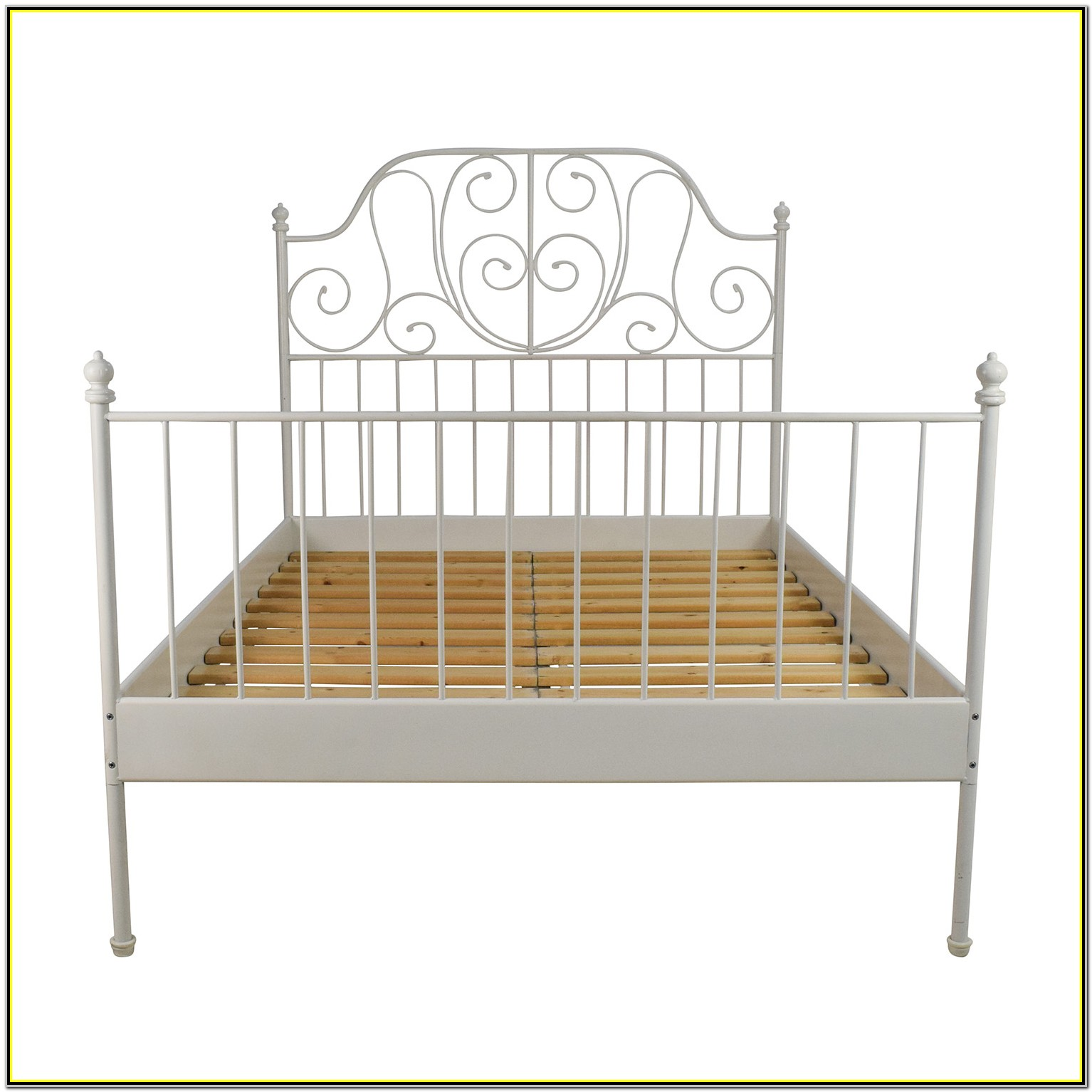 White Full Size Bed Frame Ikea