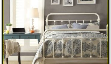White Iron Full Size Bed Frame
