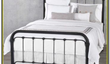 White Metal Full Size Bed Frame
