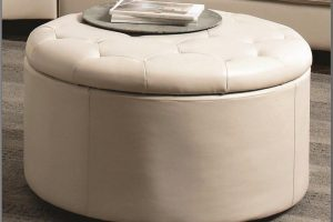 White Round Ottoman Coffee Table