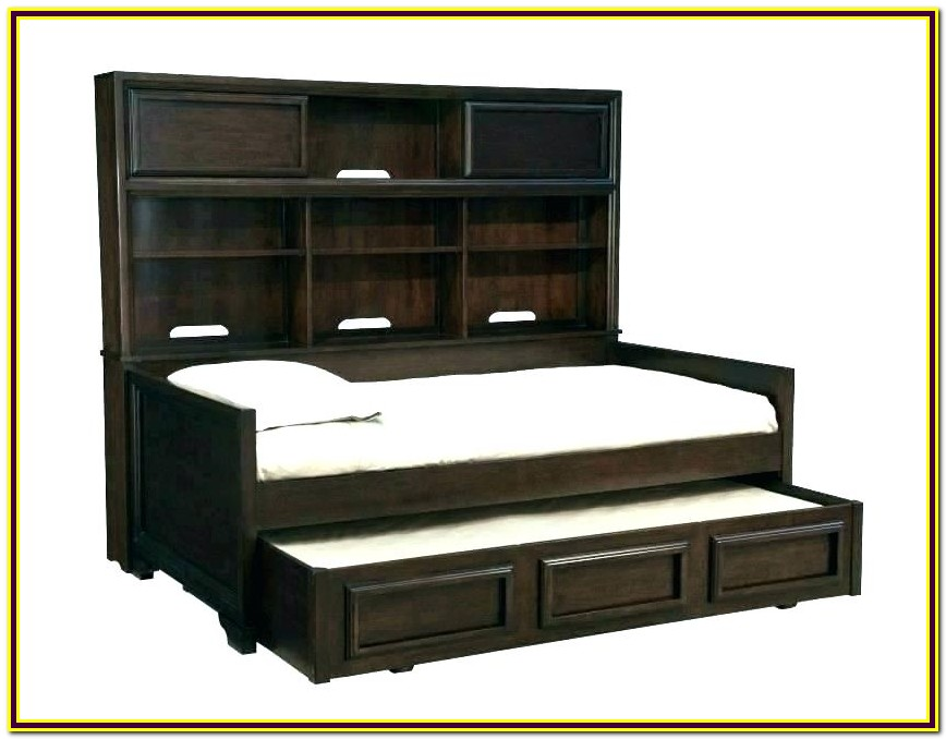 White Twin Trundle Bed With Drawers