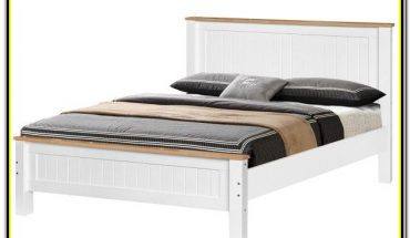 White Wood King Size Bed Frame