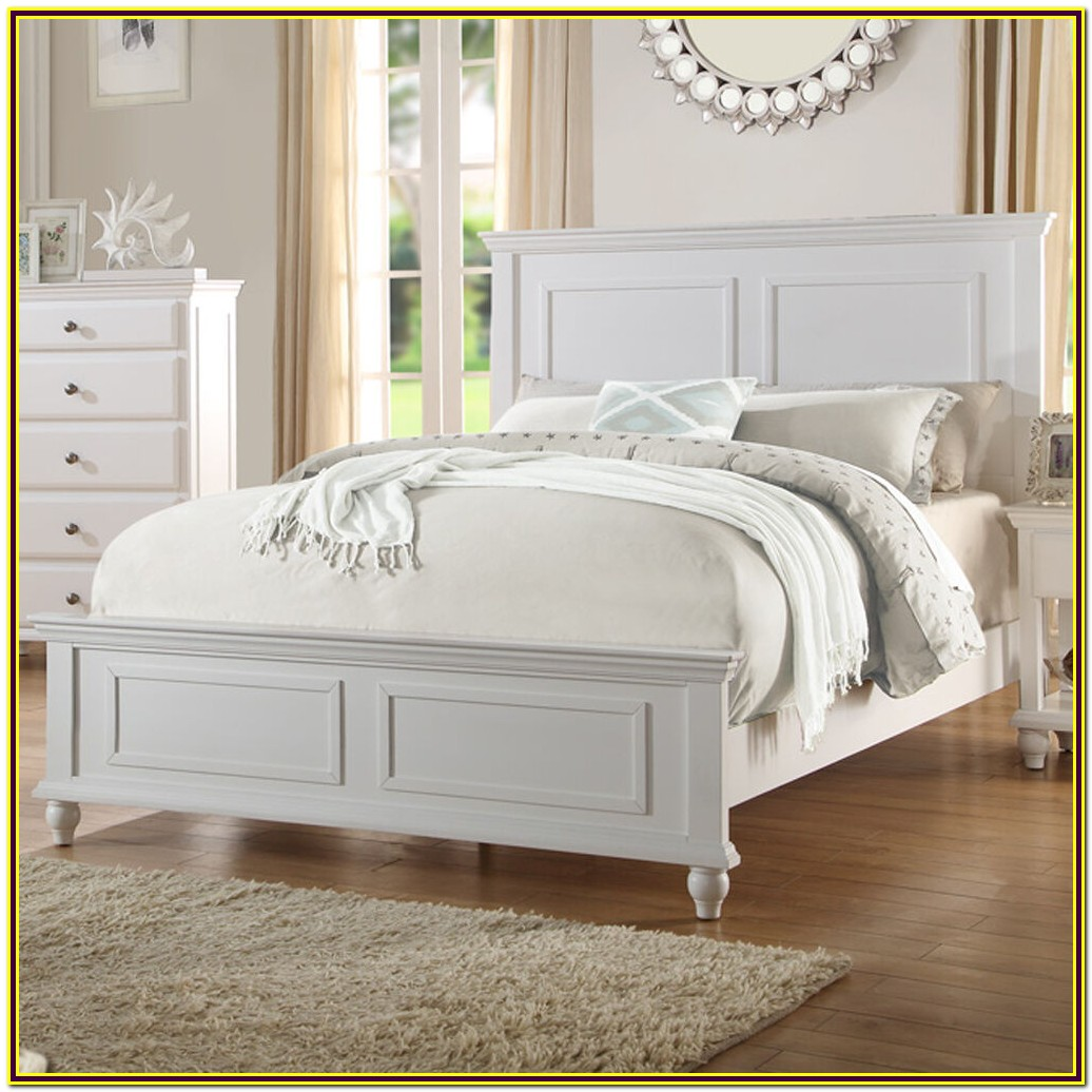 White Wooden Queen Bed Frame