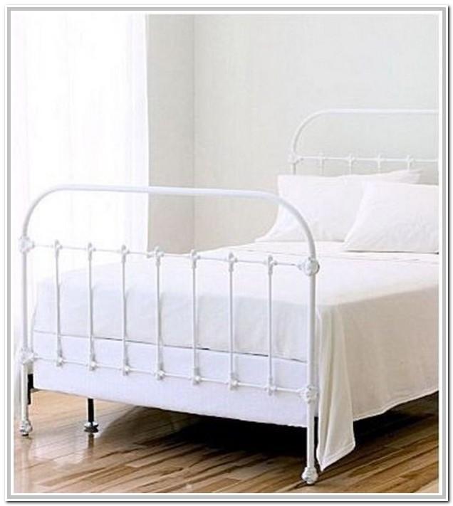 White Wrought Iron Bed Frame Full