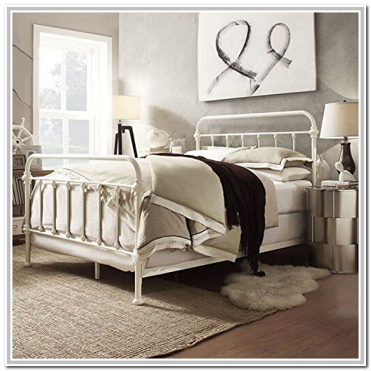 White Wrought Iron Bed Twin