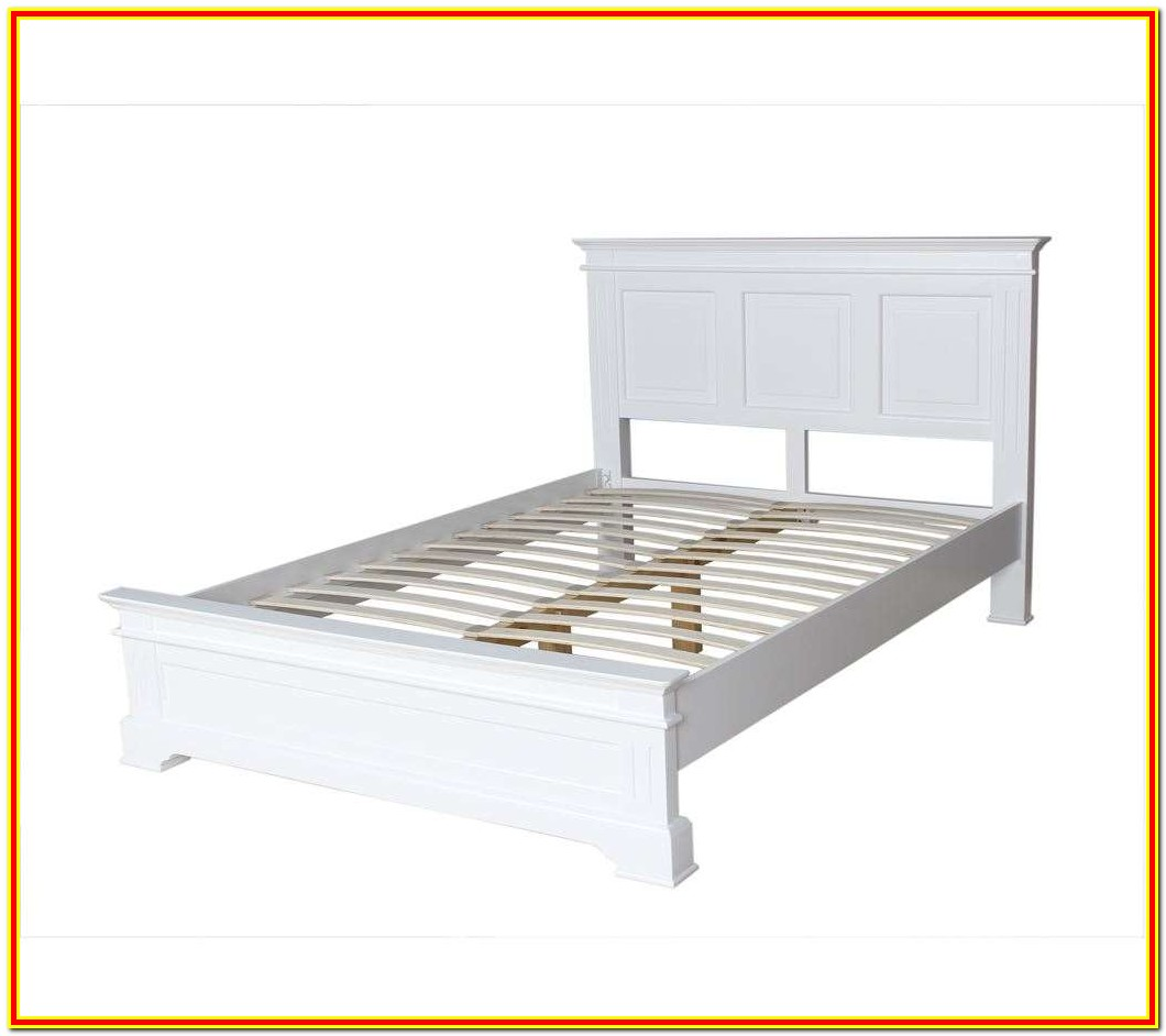 Wooden King Size Bed Frame White