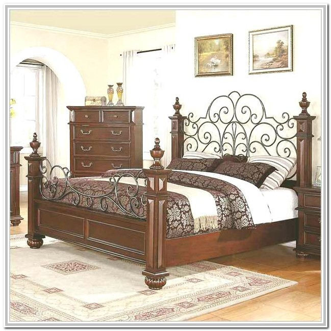 Wrought Iron Queen Bed White