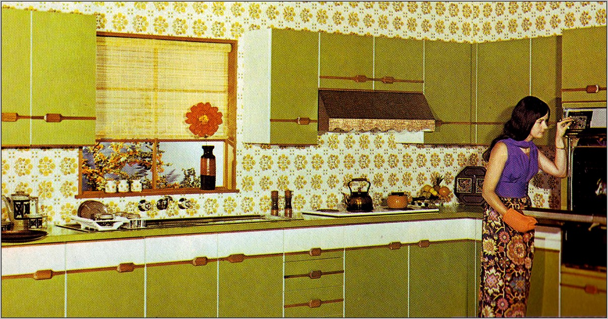 70s Regular Kitchen House Decoration