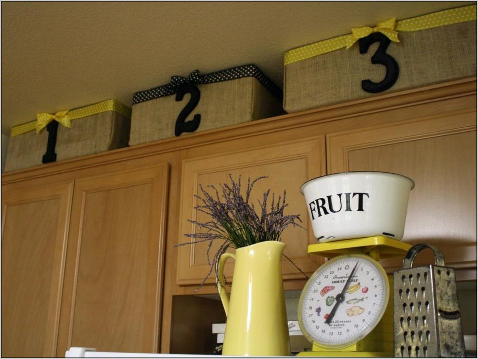 Above Kitchen Cabent Basket Decor Diy