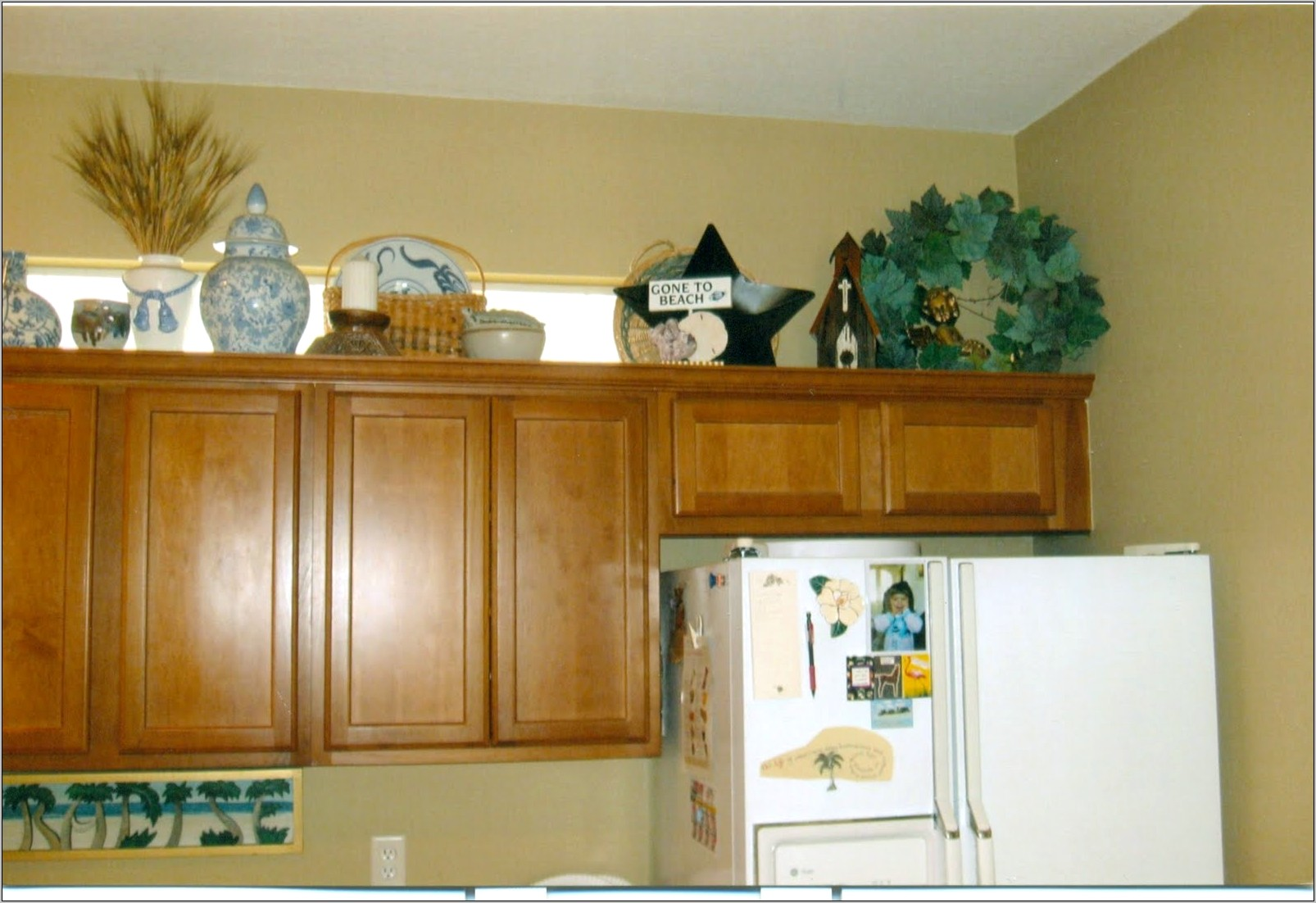 Above Kitchen Cabinet Decorations Pictures