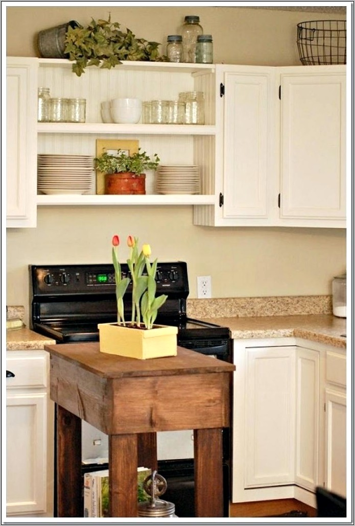 Above Kitchen Cabinet Farmhouse Decor
