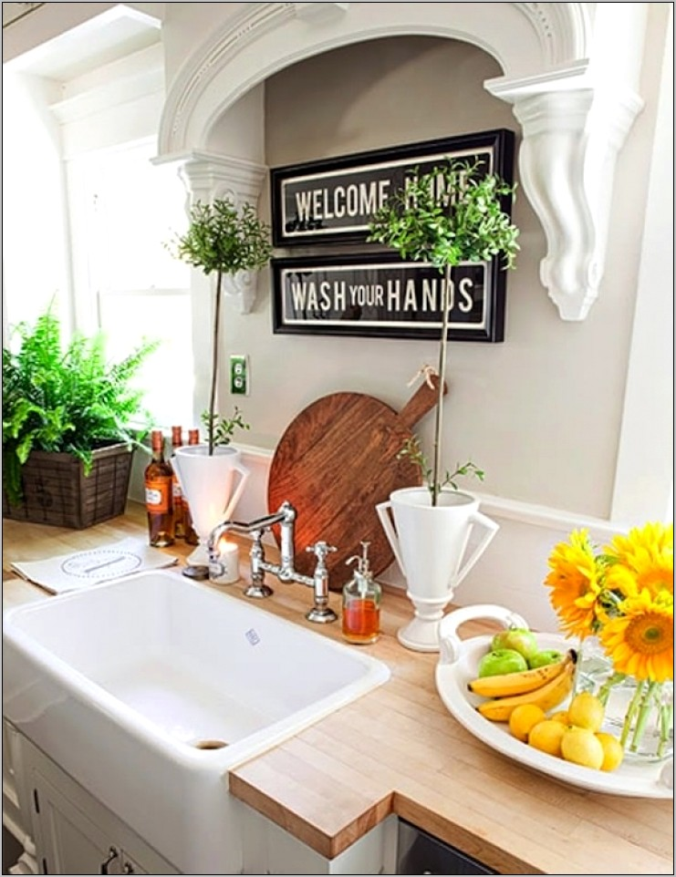 Above Kitchen Sink Decor