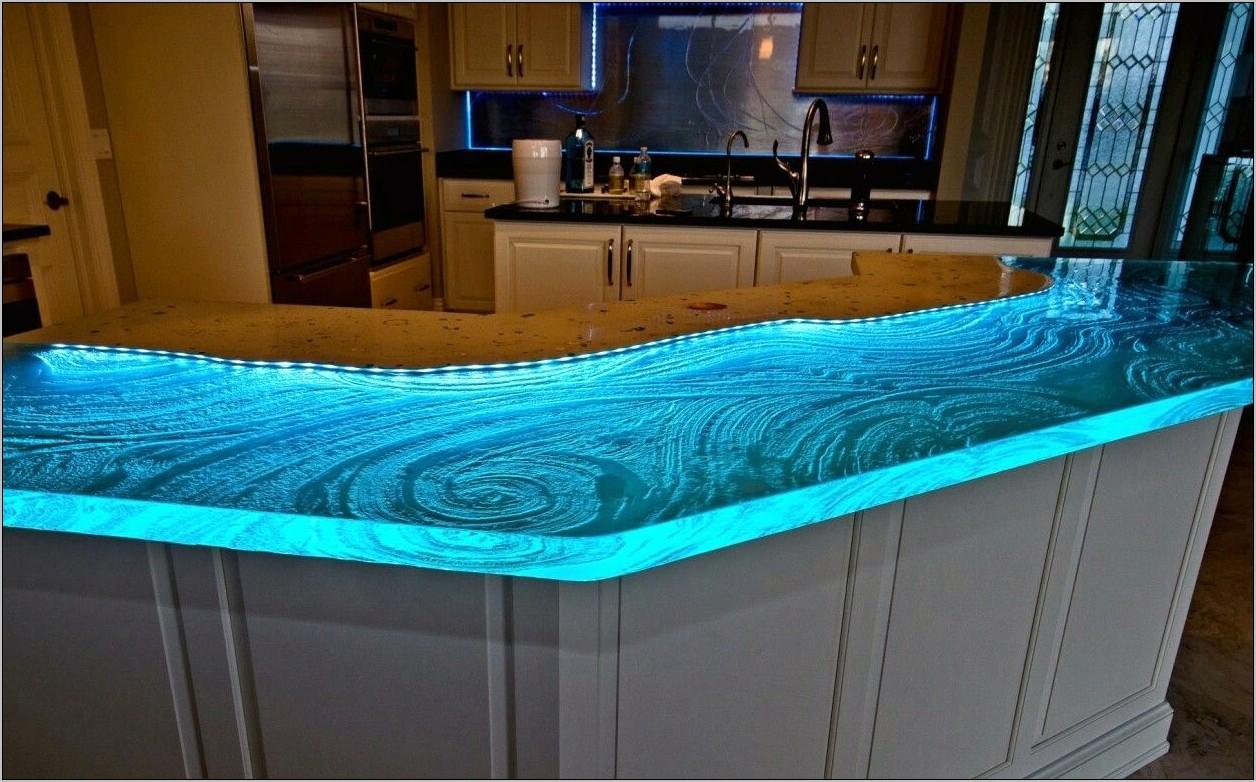 Aqua Kitchen Glass Decor