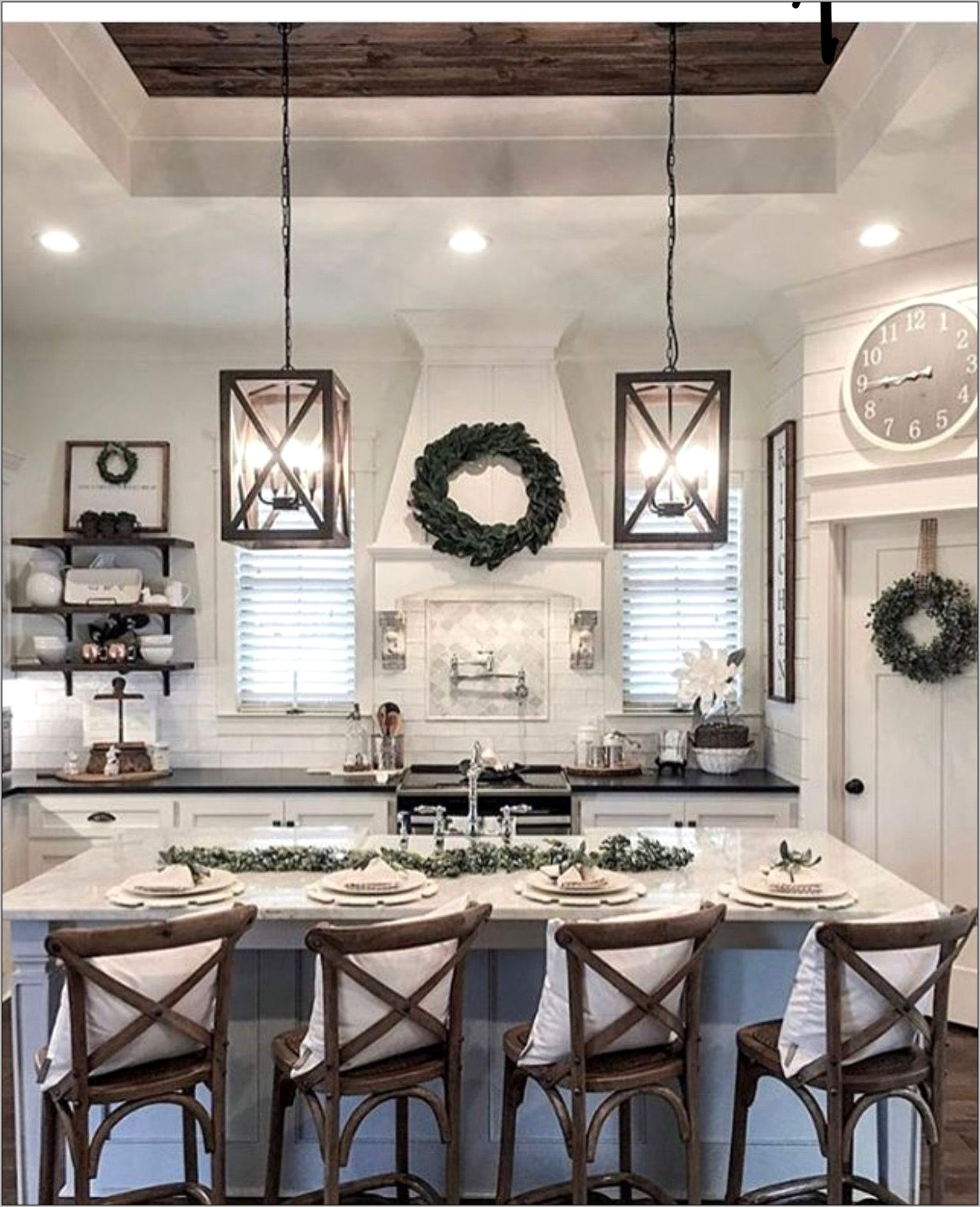 Black And White Farmhouse Kitchen Decor