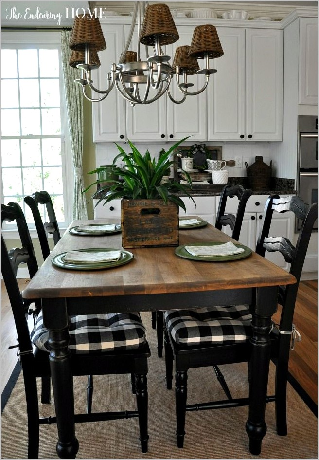 Black And White Kitchen Table Decor