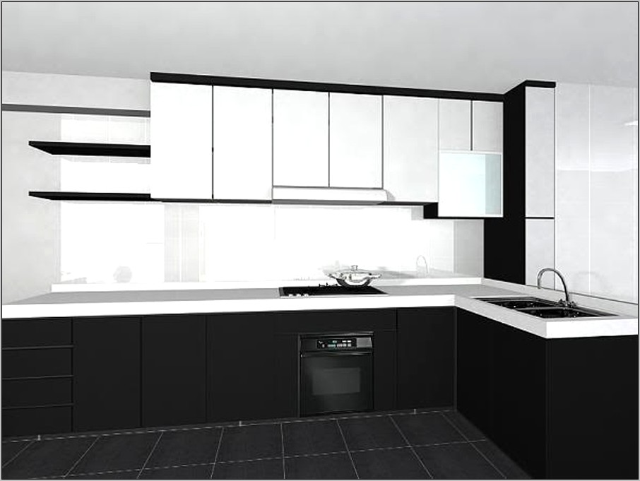 Black And White Small Kitchen Decor