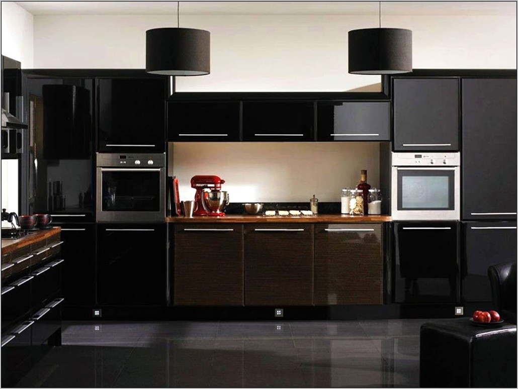 Black And White With Chef Kitchen Decor