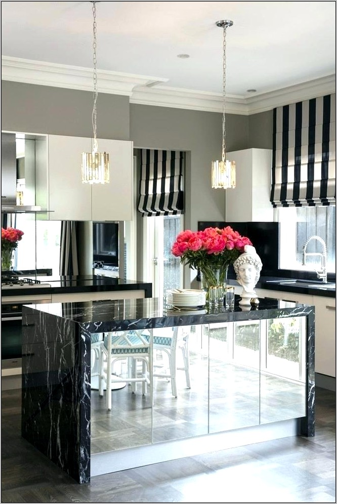 Black Gray And White Kitchen Decor