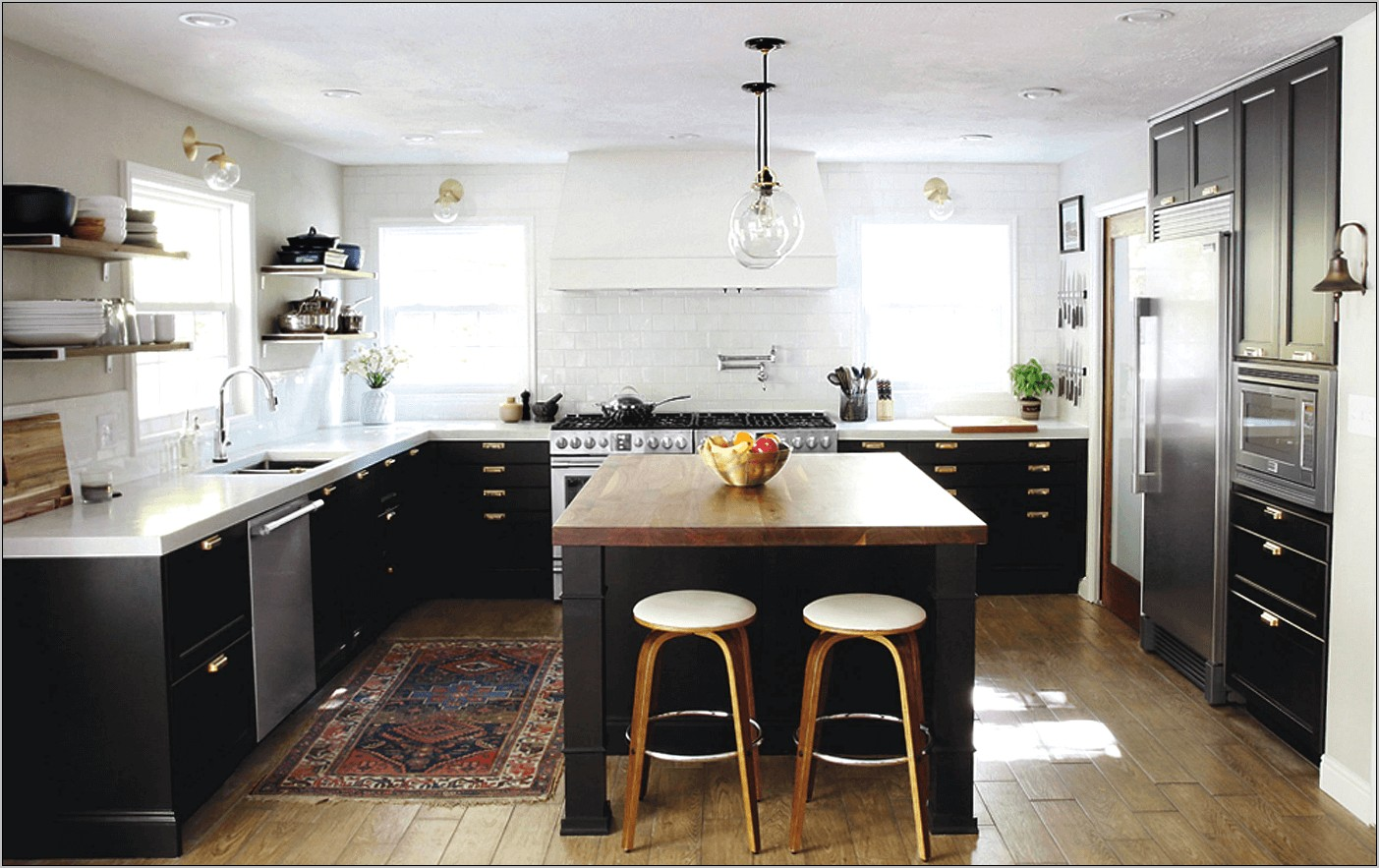 Black Red Gold Kitchen Decor