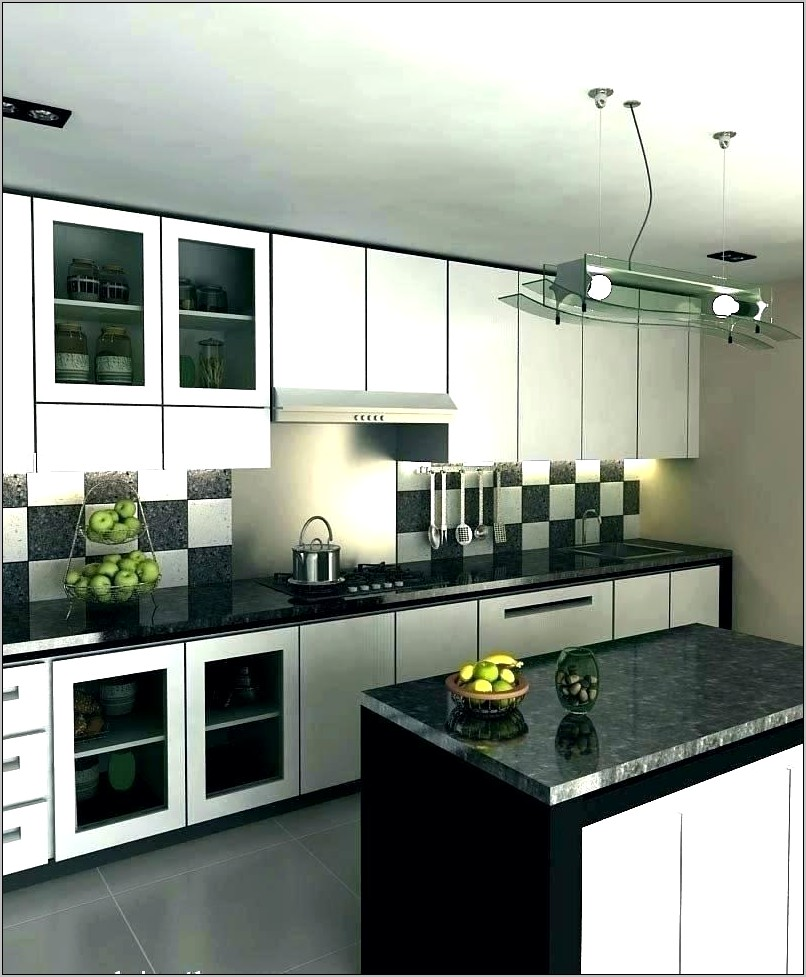 Black Silver And White Kitchen Decor