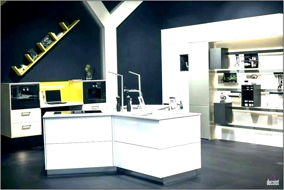 Black White Yellow Kitchen Decor