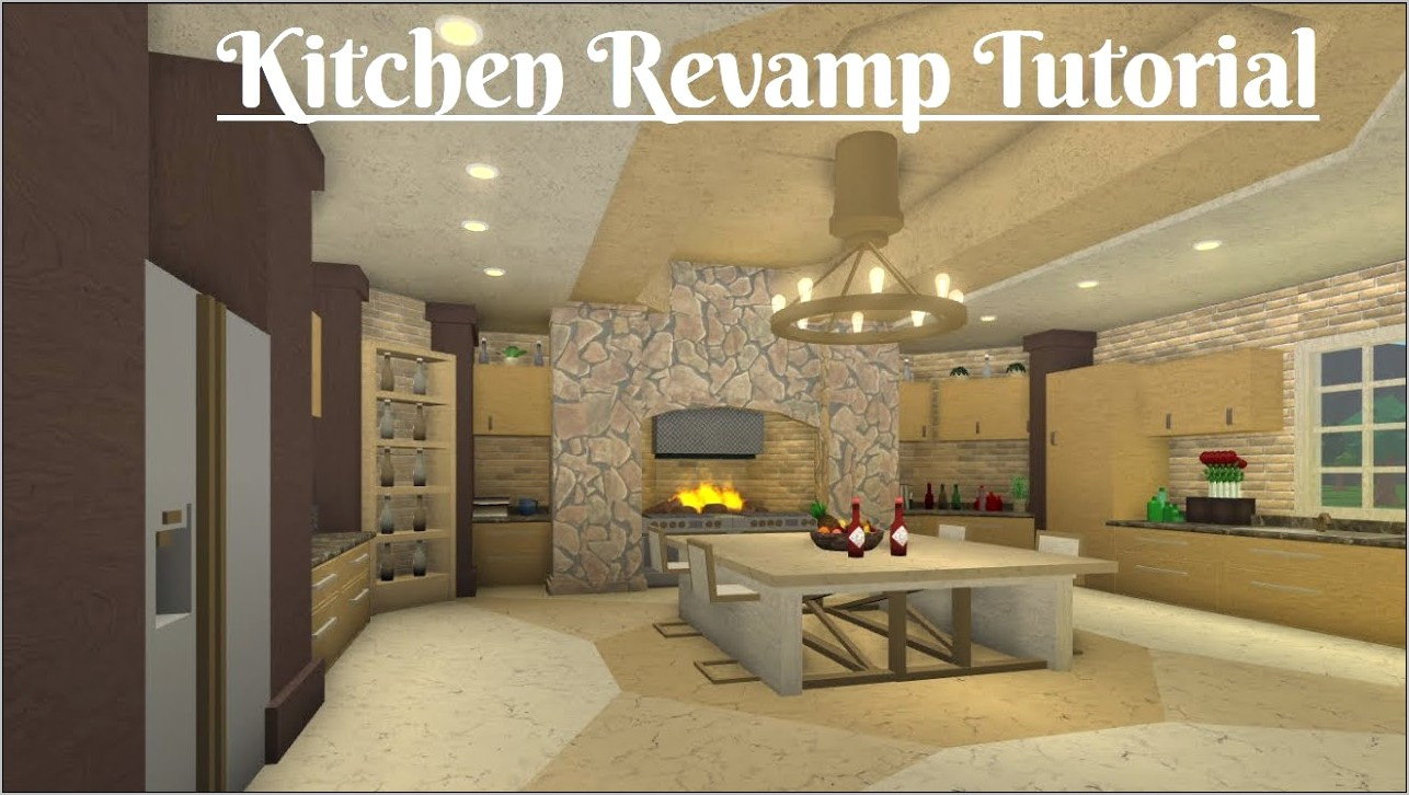 Bloxburg Decor Ideas Master Kitchen