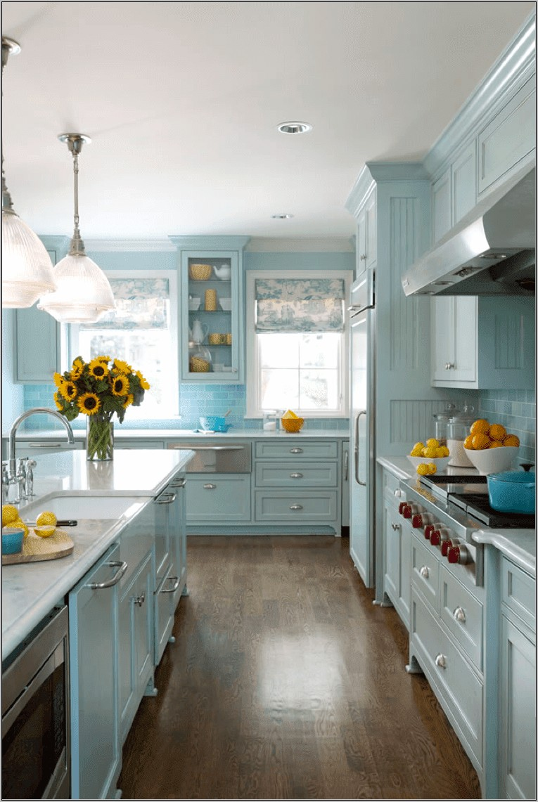 Blue Cottage Kitchen Decorating Ideas