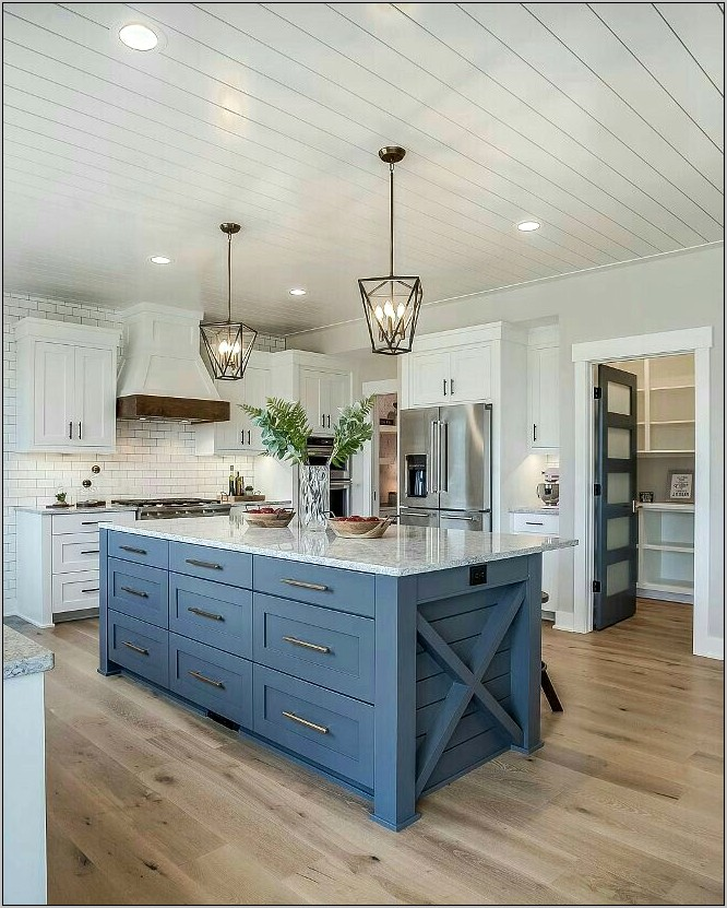 Blue Decor In Kitchen