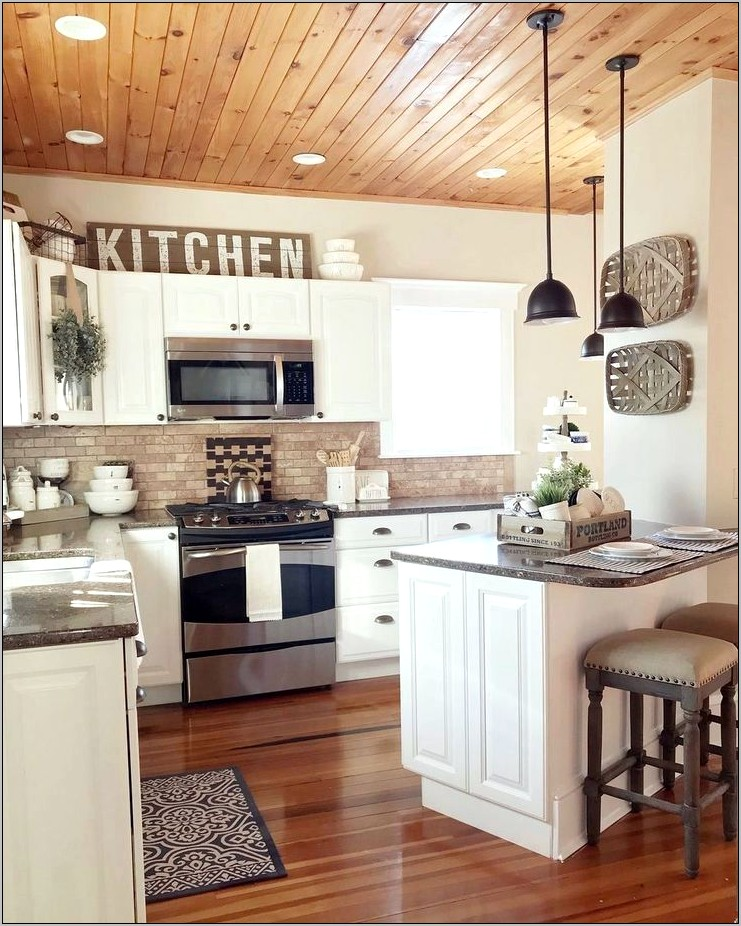 Blue French Kitchen Decor