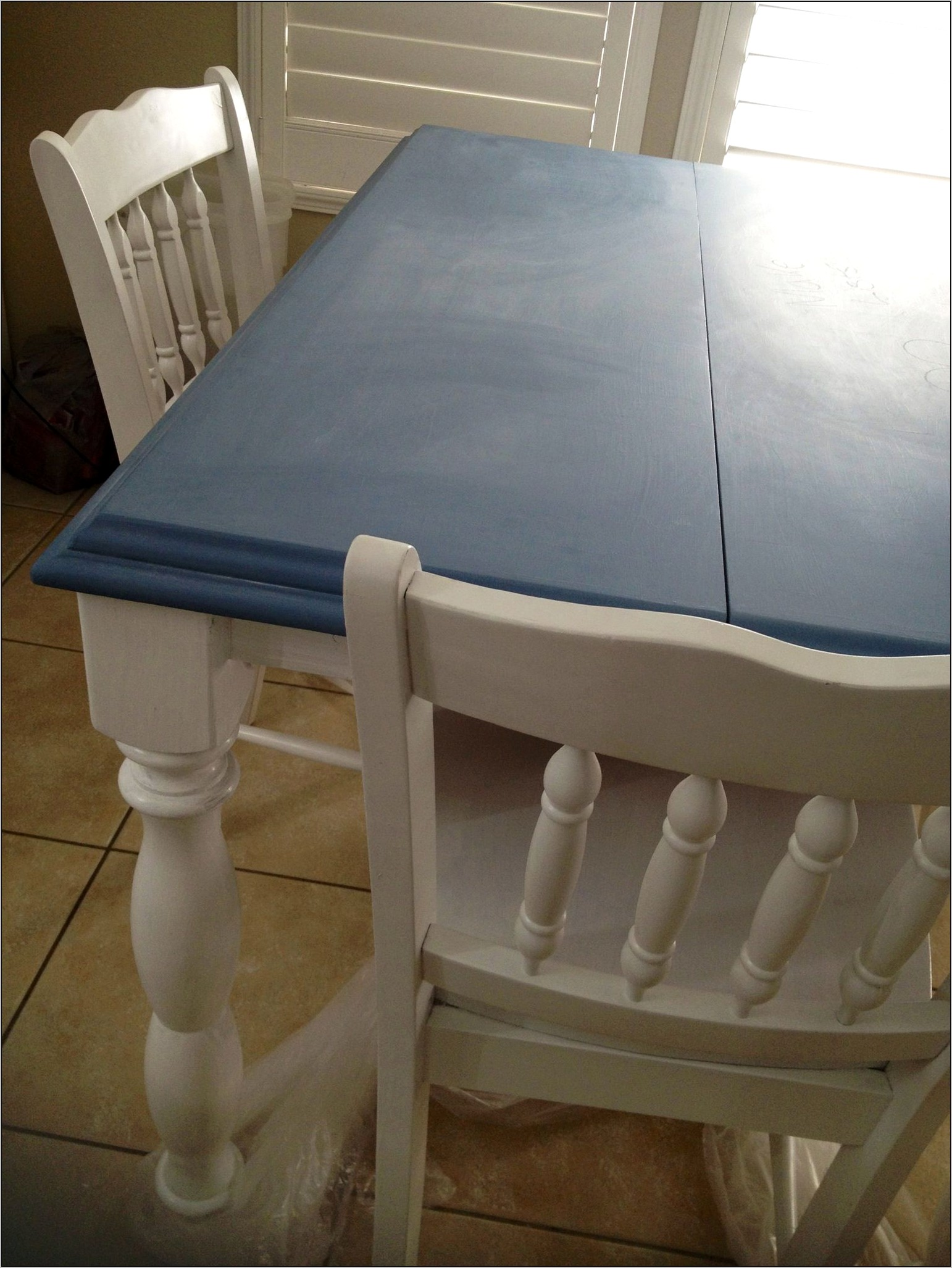 Blue Kitchen Table Decor