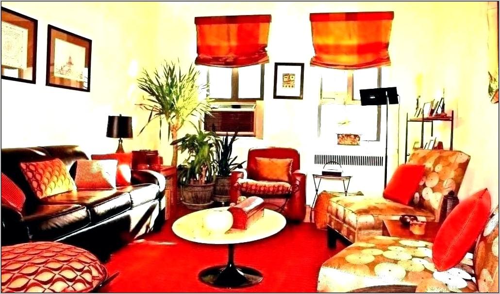 Blue Orange Red Kitchen Decor