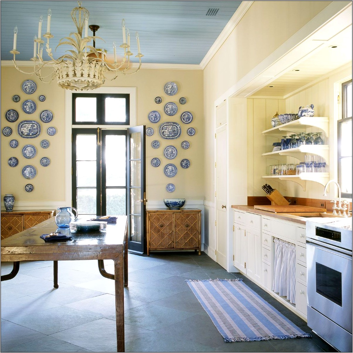 Blue Yellow Kitchen Decor