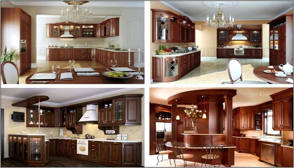 Brown Kitchen Cabinets Decor