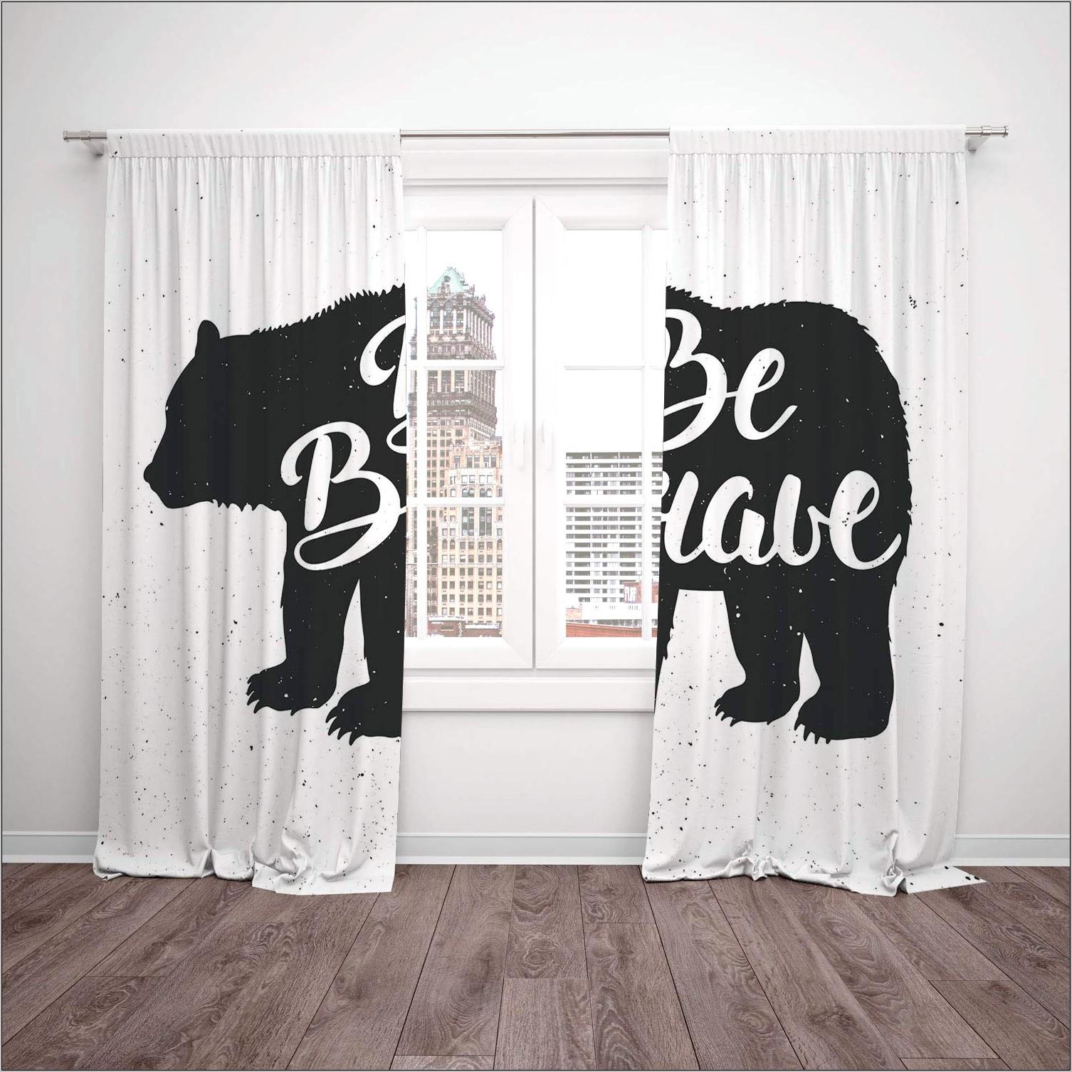 Cabin Decor Kitchen Curtains