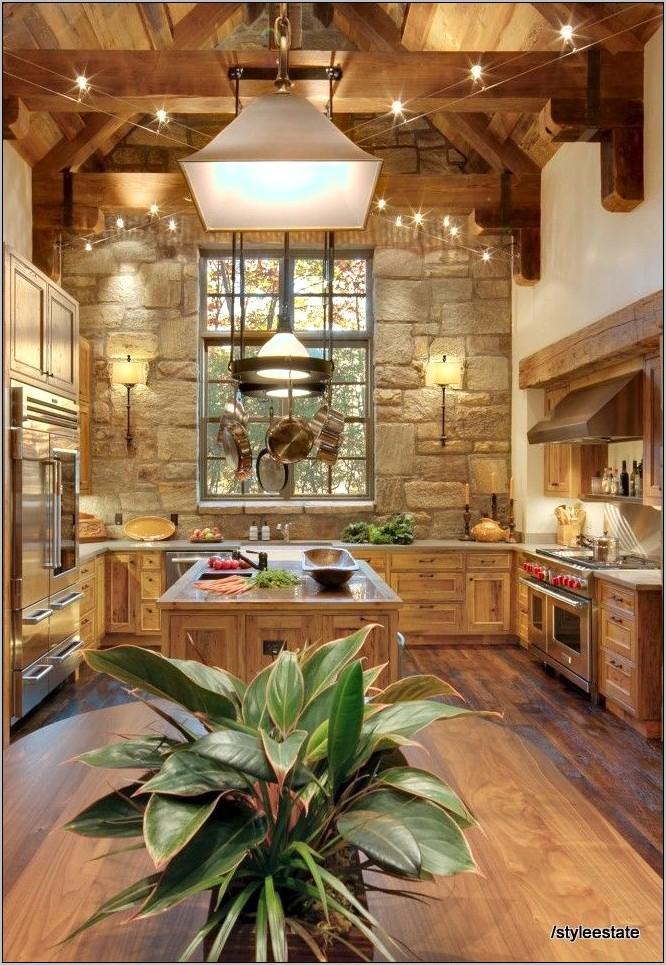 Cabin Lodge Kitchen Decor