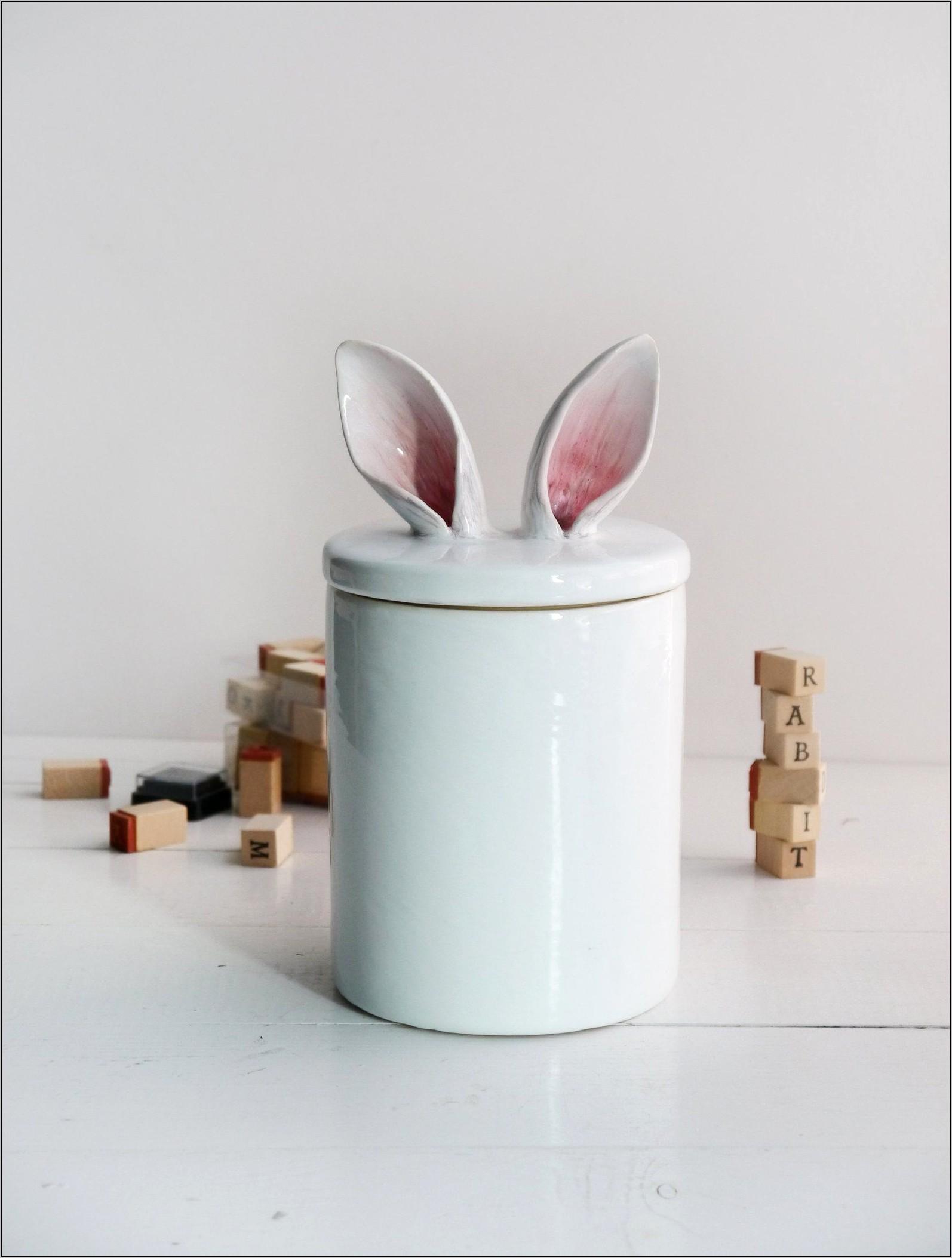 Ceramic Rabbit Kitchen Decoration