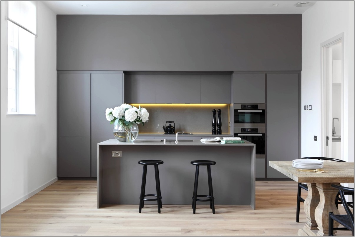 Charocoal Grey And White Kitchen Decorations Images