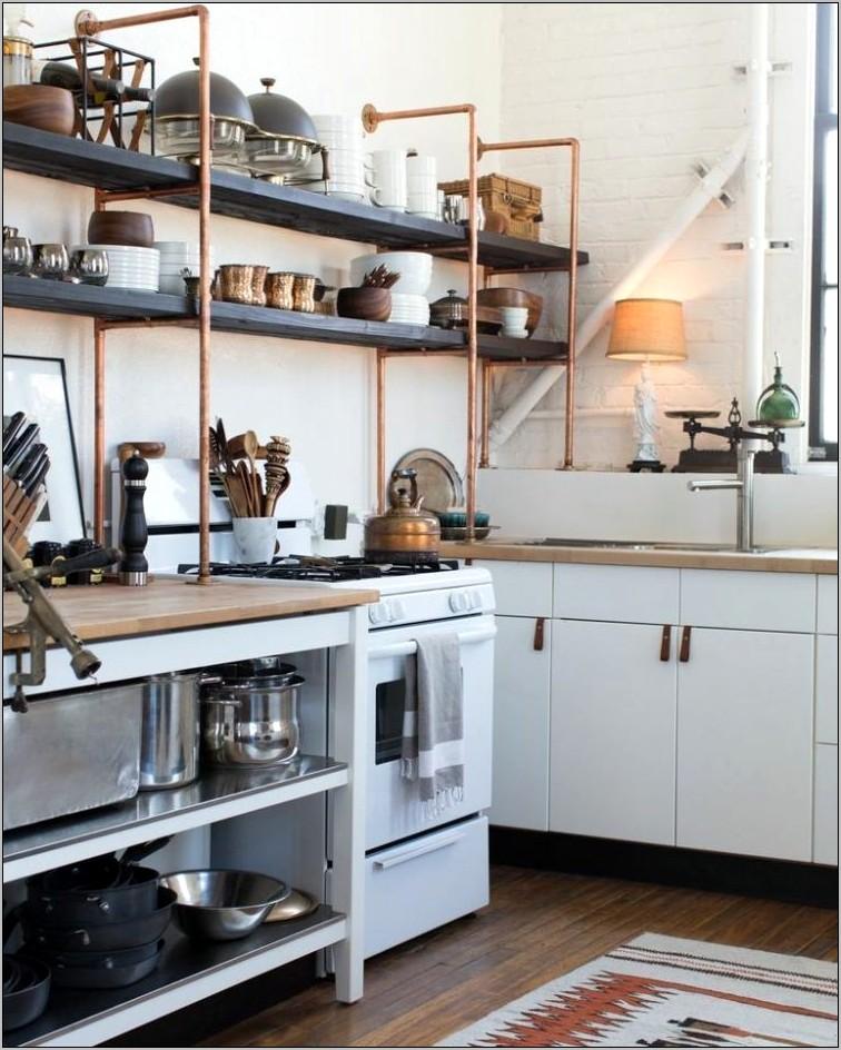 Cheap Decorative Foods For Open Kitchen Shelves